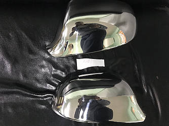 Накладки на зеркала (2 шт., нерж.) - Audi A5 2007-2015 гг.