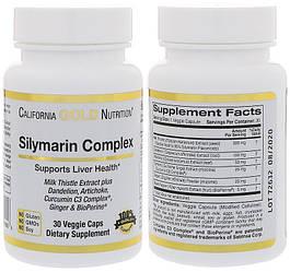 CGN, Расторопша, Силимарин комплексный, 300 мг, 30 капсул