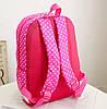 Стильный набор в горошек с бантиком, рюкзак, сумка чехол, фото 3
