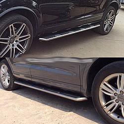 Боковые площадки OEM-V2 (2 шт., алюминий) - Audi Q3 2011+ гг.