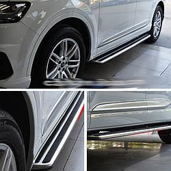 Боковые площадки OEM-V3 (2 шт., алюминий) - Audi Q3 2011+ гг.