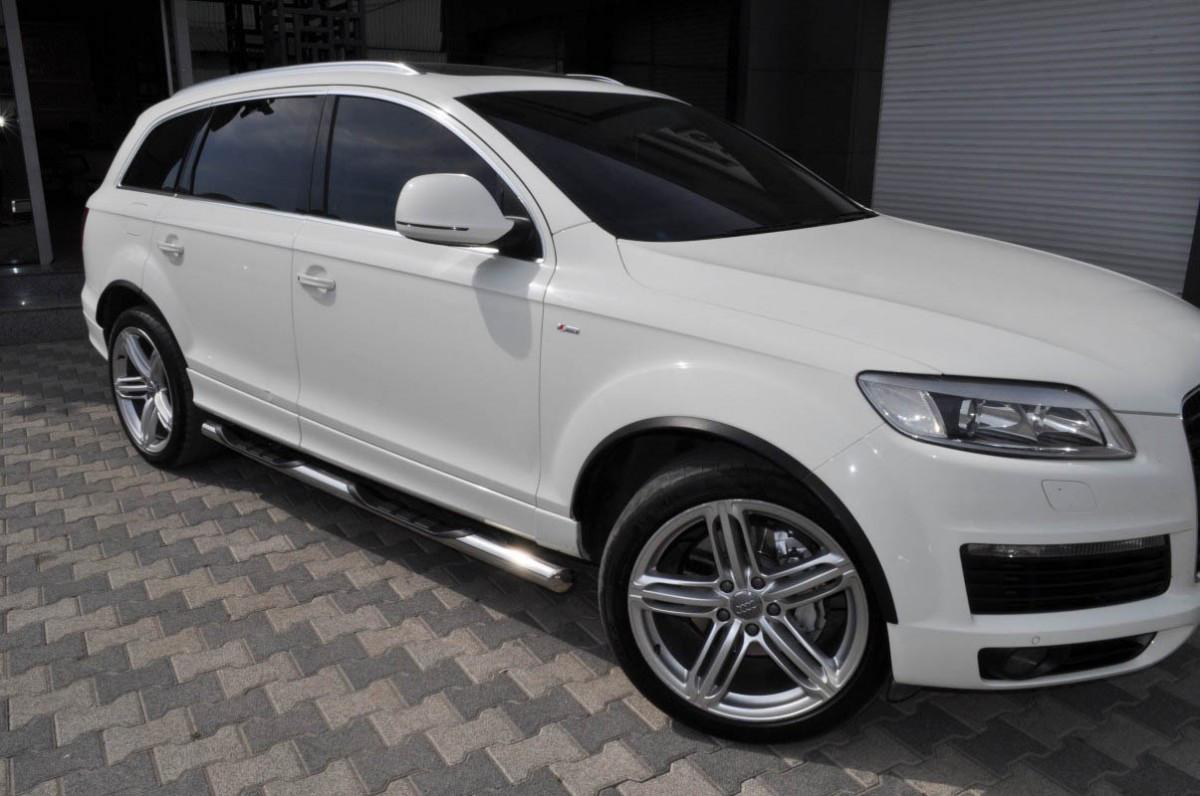 Бічні труби (2 шт., нерж.) - Audi Q5 2008-2017
