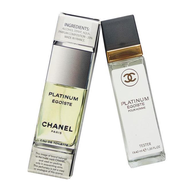 Chanel egoiste platinum pour homme eau de parfum тестер 40 мл