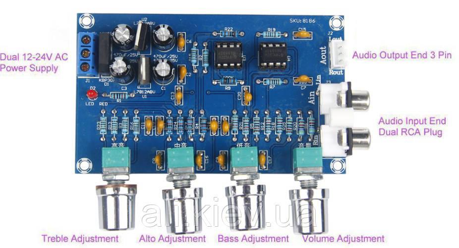 Пред усилитель с темброблоком NE5532 стерео модуль