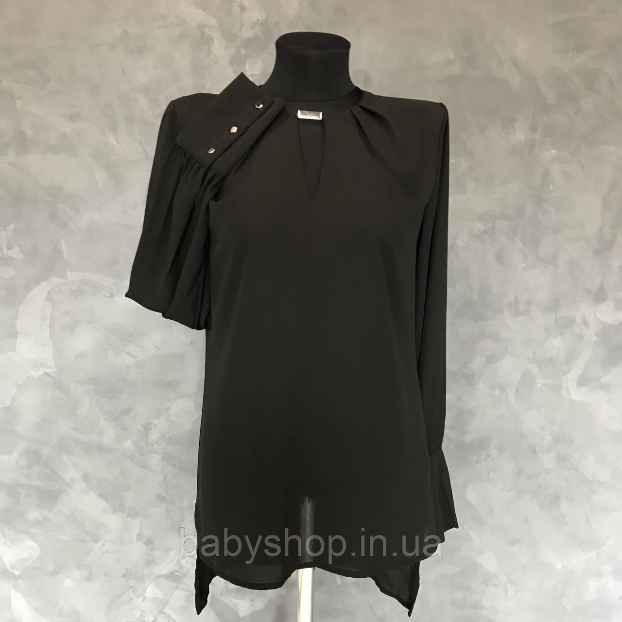 Стильная черная блуза от KOTON. Размер XS, S, M, L.