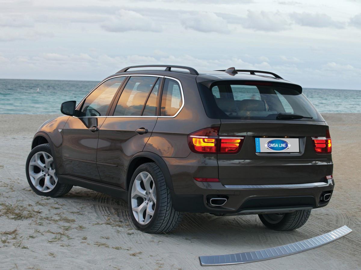 Накладка на задний бампер OmsaLine (нерж.) - BMW 1 серия 2011+ гг.