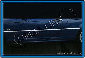 Хром на дверной молдинг (нерж.) - BMW 3 серия E-46 1998-2006 гг.