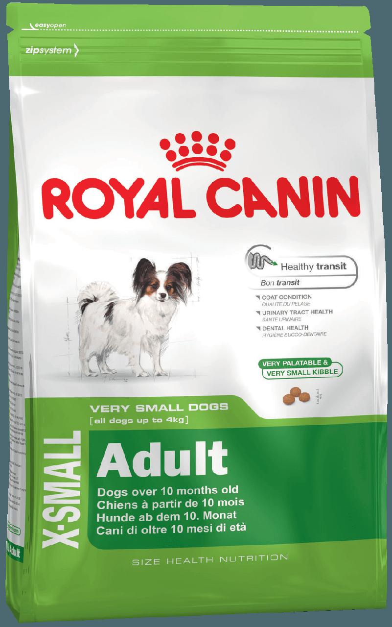 Сухой корм Royal Canin X-Small Adult для собак малых пород от 10 месяцев 3 кг