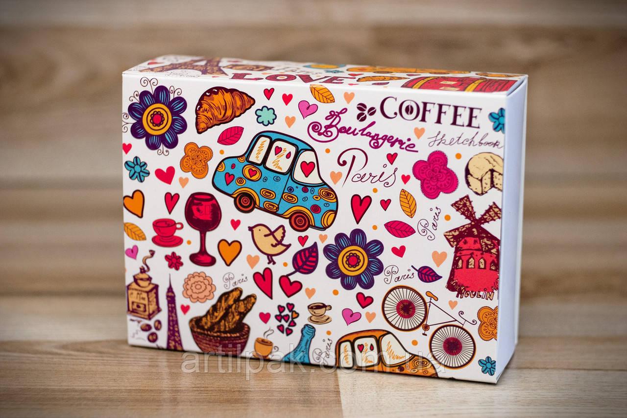 Коробка 115*155*50 для 12 макаронсів PARIS