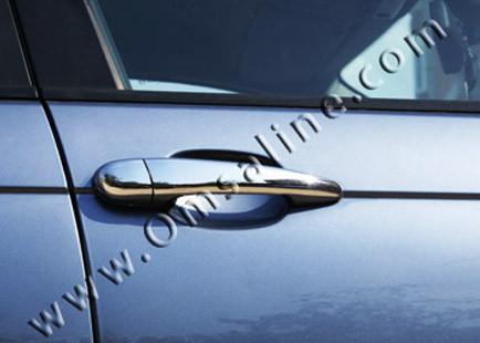 Накладки на ручки (4 шт, нерж) - BMW 5 серия E-60/61 2003-2010 гг.