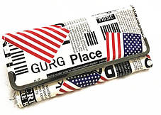 Стильный лакированный кошелек с принтом газеты, фото 2