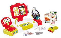 Касса Smoby детская интерактивная выдает чек с дисплеем красная XL Cash Register  350107