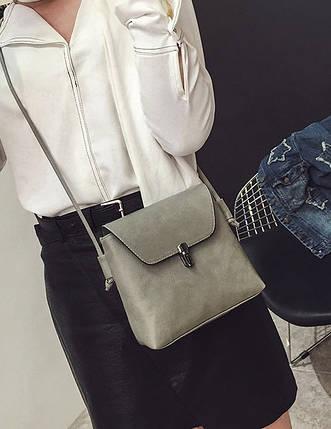 Елегантна матова сумочка на ремінці, фото 2