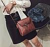 Елегантна матова сумочка на ремінці, фото 3
