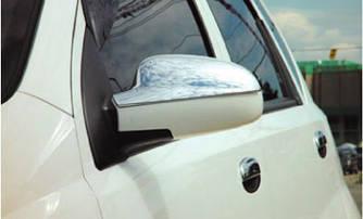 Накладки на зеркала Верхушка (2 шт, пласт) - Chevrolet Aveo T200 2002-2008 гг.