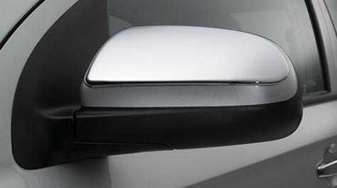 Накладки на зеркала (2 шт., нерж.) - Chevrolet Aveo T250 2005-2011 гг.