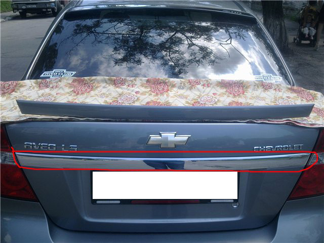 Задня планка (нерж.) - Chevrolet Aveo T250 2005-2011 рр.