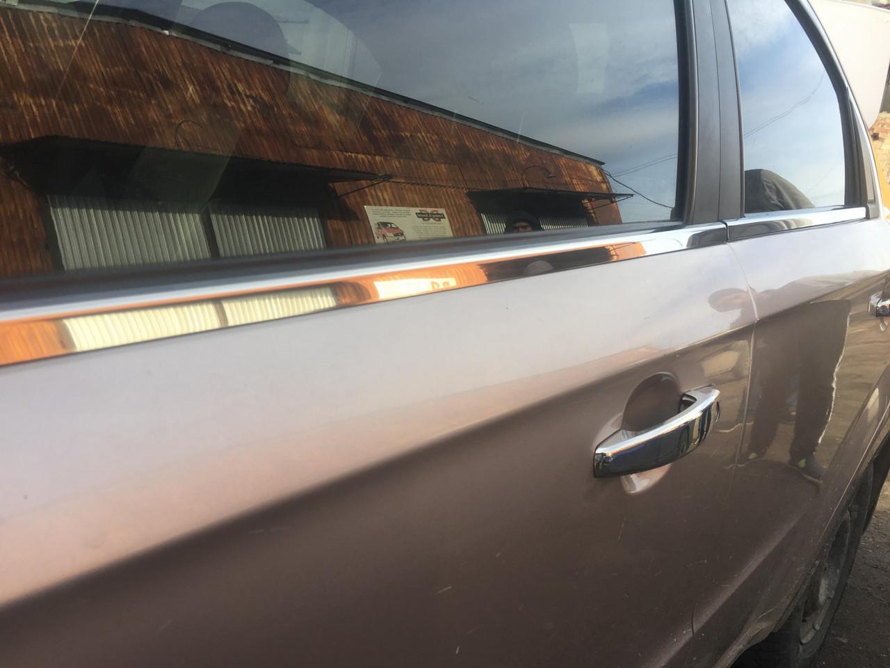 Хром накладки на штатные молдинги стекл Chevrolet Aveo T250 2005-2011