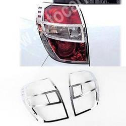 Накладки на стопы (2 шт, пласт) - Chevrolet Captiva 2006+ и 2011+ гг.