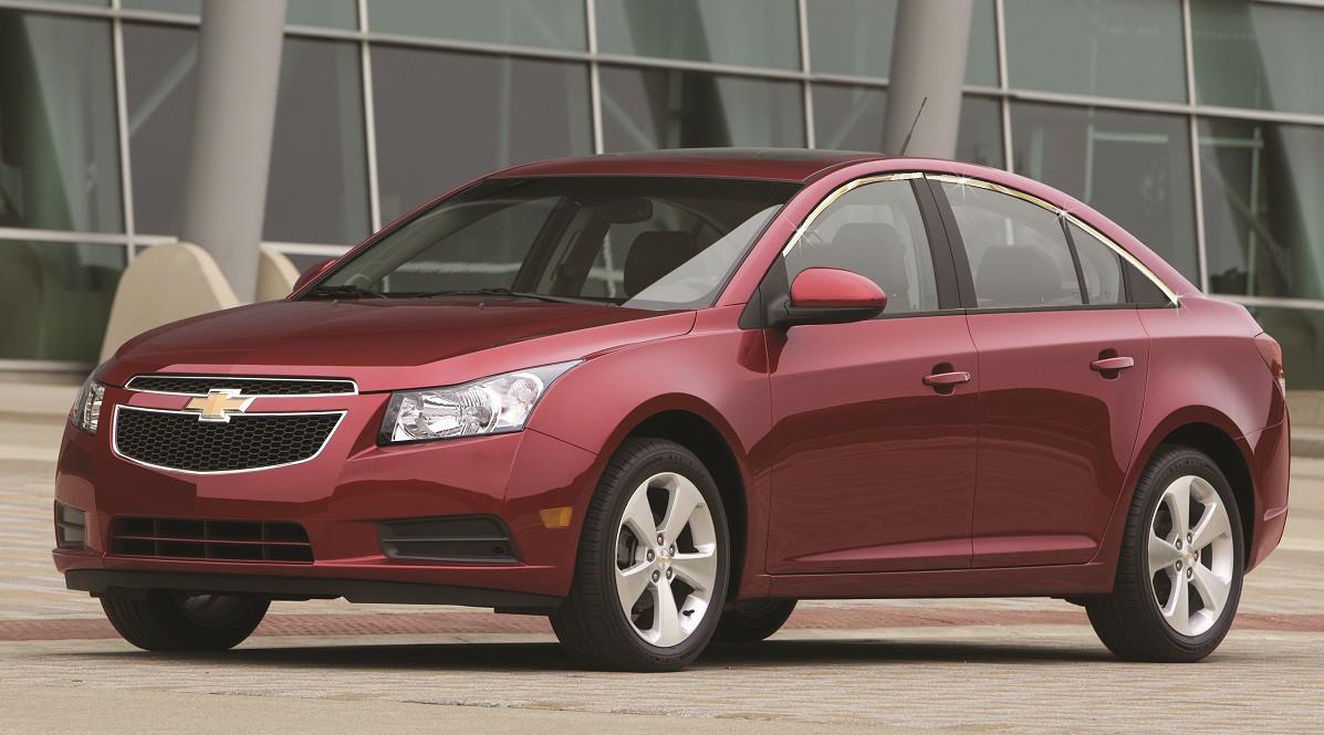 Верхняя окантовка стекол (для версии Sedan, нерж.) - Chevrolet Cruze 2009+ гг.