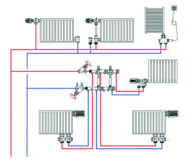 Монтаж и заполнение системы отопления