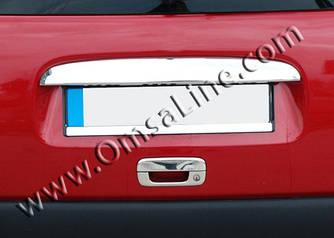 Накладка над номером (Однодверный, нерж.) - Citroen Berlingo 1996-2008 гг.