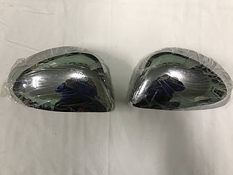 Накладки на зеркала (2 шт, ABS) - Citroen C-4 2005-2010 гг.
