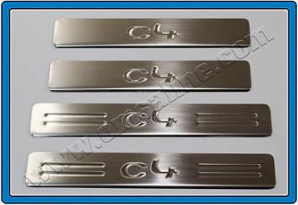 Накладки на дверные пороги (4 шт., нерж.) - Citroen C-4 2005-2010 гг.