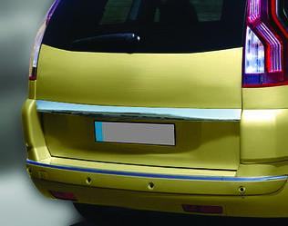Накладка над номером (нерж.) - Citroen C-4 Picasso 2006-2013 рр ..