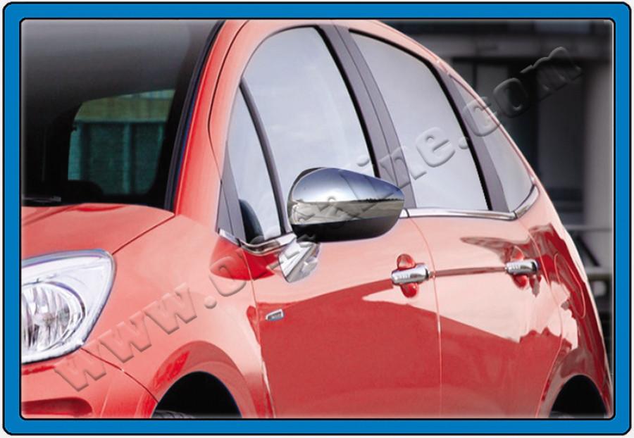 Накладки на зеркала (2 шт., нерж.) - Citroen C-5 2008+ гг.