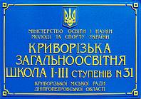 Фасадная вывеска с объёмным шрифтом