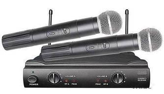 Радиосистема UKC UT-24/SM58II с 2-мя беспроводными микрофонами