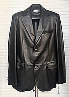Пиджак мужской кожаный натуральный классический Италия