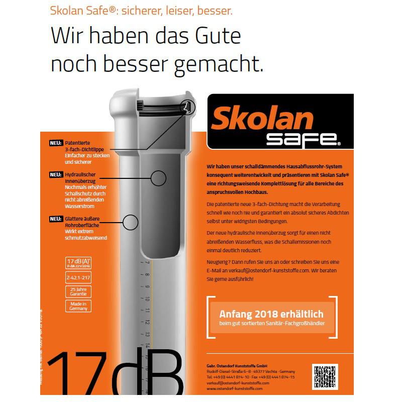Труба бесшумная Ostendorf Skolan Safe db Ø 58 х 1000  мм