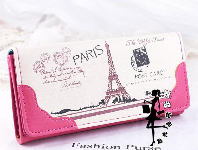 Стильний гаманець з принтом Парижа
