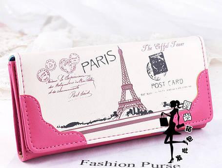 Стильний гаманець з принтом Парижа, фото 2