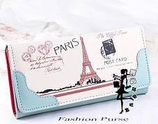 Стильний гаманець з принтом Парижа, фото 3