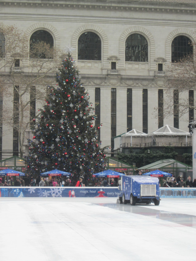 Раздел Кофты с воротником - фото teens.ua - Нью-Йорк,каток в Брайант парке,новогодняя елка