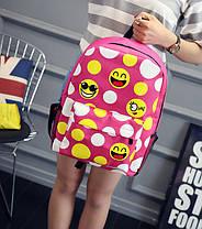 Великий тканинний рюкзак зі смайликами, фото 3