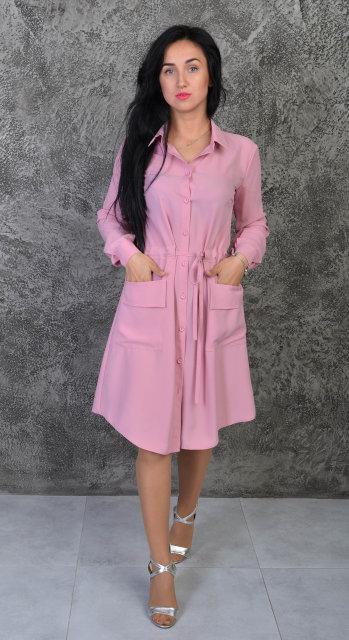 a653be183fa Стильное женское платье на пуговицах размер  42-44