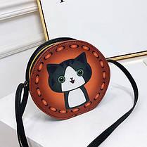 Милі круглі сумочки з принтами собачки, фото 3
