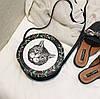 Милые круглые сумочки с принтами котика, собачки, девочки , фото 5