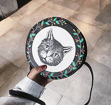 Милі круглі сумочки з принтами собачки, фото 2