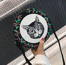 Милые круглые сумочки с принтами котика, собачки, девочки , фото 3