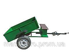 Прицеп-самосвал с дисковыми тормозами под ступицу мотоблочных колёс