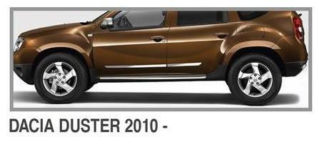 Молдинг дверной (4 шт, нерж.) - Dacia Duster 2008-2018 гг.