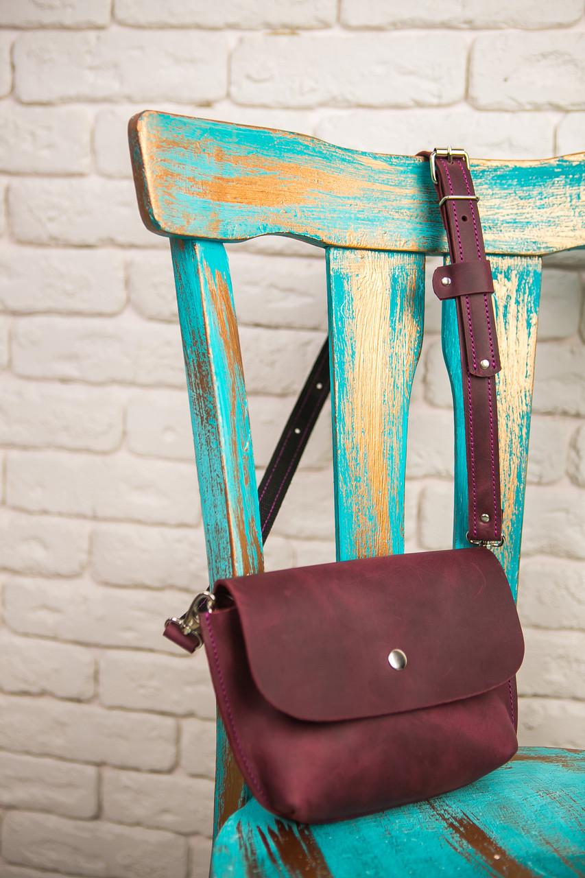 7c0859df55d8 Поясная сумка SISTA, бананка, поясная сумка из кожи, сумка кросбоди,  бананка ручной