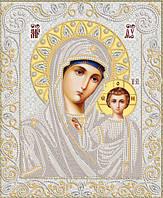 Ткань со схемой для вышивки иконы бисером Венчальная пара. Богородица Казанская РИК-3-042