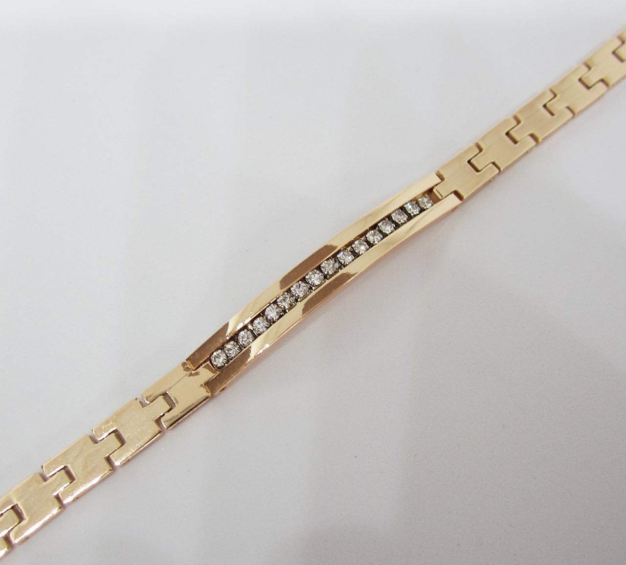 Браслет длина 20 см ширина 6 мм ювелирная бижутерия