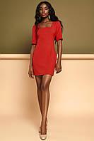 Короткое Облегающее Платье Делового Стиля Красное S-XL, фото 1